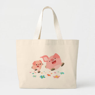 It s Spring -Two Cute Cartoon Pigs Bag