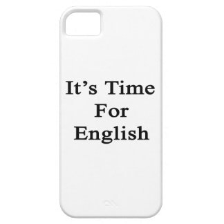 It s Time For English Case For iPhone 5/5S