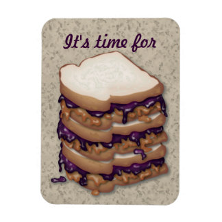 It s time for Peanut Butter and Jelly Sandwiches Magnets