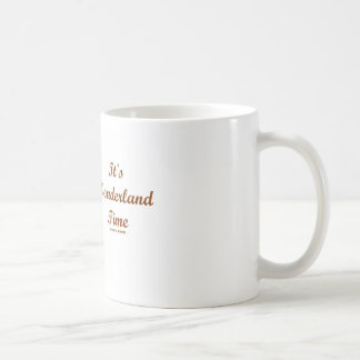 It s Wonderland Time White Rabbit With Trumpet Coffee Mug