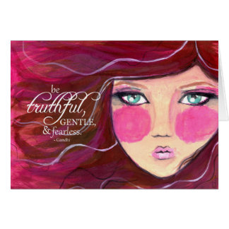 It sees Fearless - Modern Girl Greeting Card