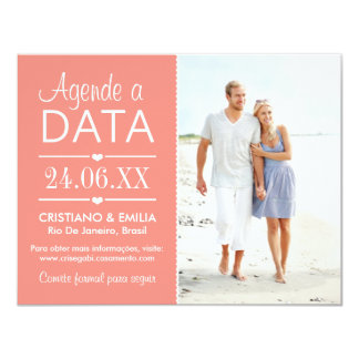 It set appointments the Date Photo Card   Colors R 11 Cm X 14 Cm Invitation Card