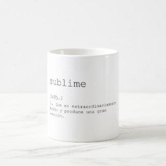 It sublimates coffee mug