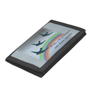 """It takes a lot of money"" with Bluebirds, Rainbow Tri-fold Wallets"