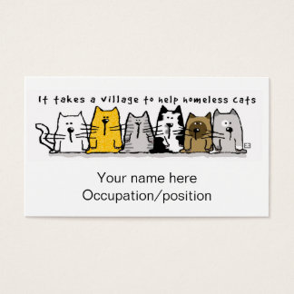 It Takes a Village Cats Business Card