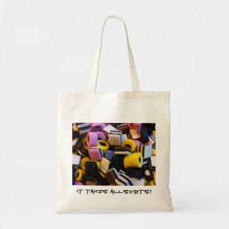 it takes allsorts tote bag