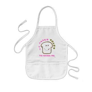 """It takes Dough"" Animated (pink) Baking Kids Apron"
