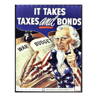 It Takes Taxes And Bonds 21.5 Cm X 28 Cm Flyer