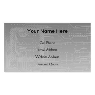 IT Tech Mother Board Business Card Template