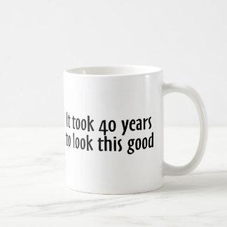 It Took 40 Years To Look This Good Basic White Mug