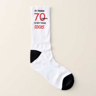 It took 70 years to get these Socks 70th Birthday 1