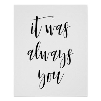It Was Always You Poster