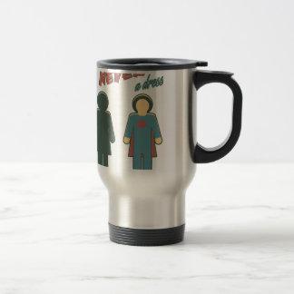 It Was Never A Dress - Wonder Super Girl Woman Travel Mug