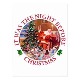 It Was The Night Before Christmas Postcard