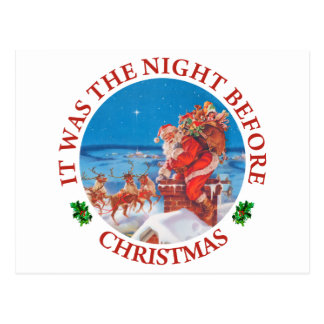 It Was The Night Before Christmas Postcards