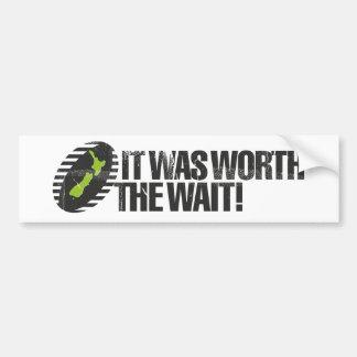 It Was Worth The Wait NZ Bumper Sticker