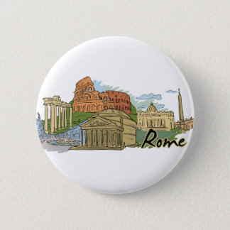 It Wasn't Built In A Day (Rome) 6 Cm Round Badge