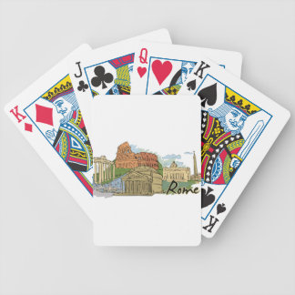 It Wasn't Built In A Day (Rome) Bicycle Playing Cards