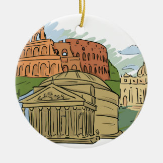 It Wasn't Built In A Day (Rome) Ceramic Ornament