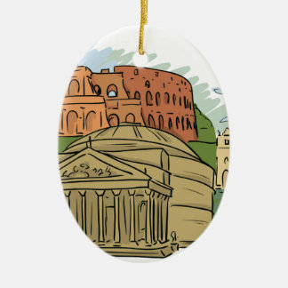 It Wasn't Built In A Day (Rome) Ceramic Oval Decoration