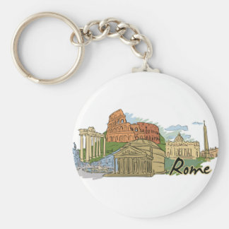 It Wasn't Built In A Day (Rome) Key Ring