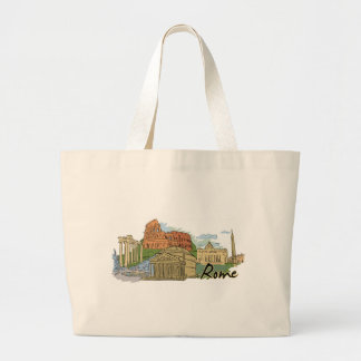 It Wasn't Built In A Day (Rome) Large Tote Bag