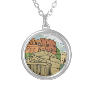 It Wasn't Built In A Day (Rome) Silver Plated Necklace