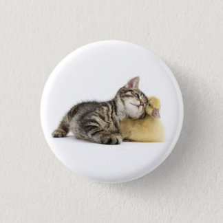 It will follow you everywhere. 3 cm round badge