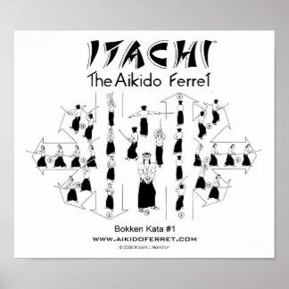 Itachi Bokken Kata #1 Poster