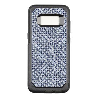 Itajime Shibori Blue Check Textile Geometric Weave OtterBox Commuter Samsung Galaxy S8 Case