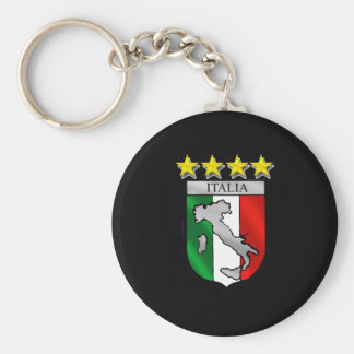 italia 4 stars world champions soccer gifts basic round button key ring