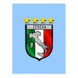 italia 4 stars world champions soccer gifts postcard