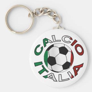 Italia Calcio Italy Football Basic Round Button Key Ring