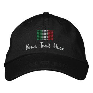 Italia Cap - Italian Flag Hat Embroidered Cap