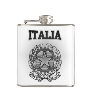 Italia Coat of Arms Hip Flask