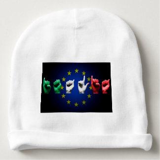 italia europe black baby beanie