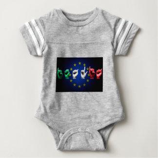 italia europe black baby bodysuit