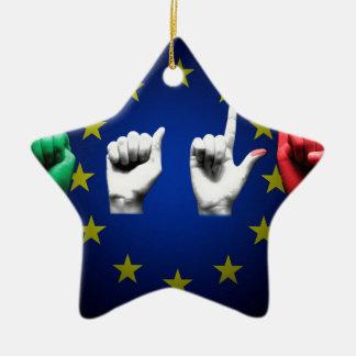italia europe black ceramic ornament
