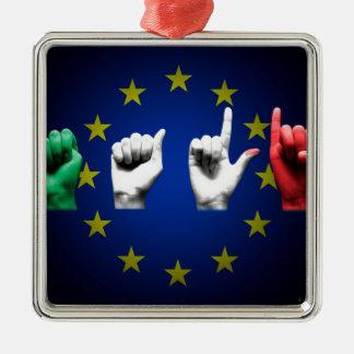 italia europe black metal ornament