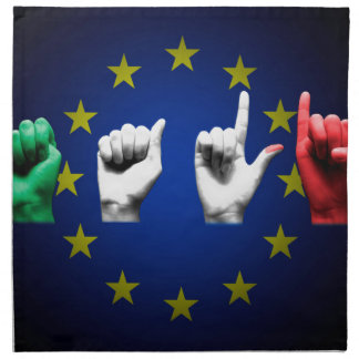 italia europe black napkin