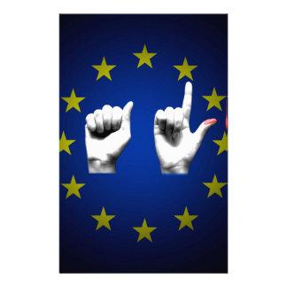 italia europe black stationery