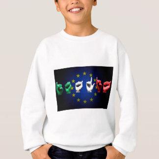 italia europe black sweatshirt