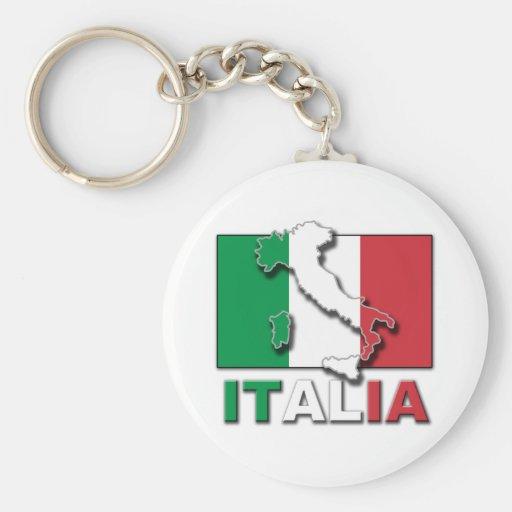 Italia Flag Land Key Chains