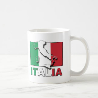Italia Flag Land Coffee Mugs