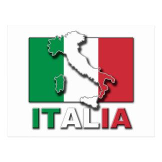 Italia Flag Land Postcard