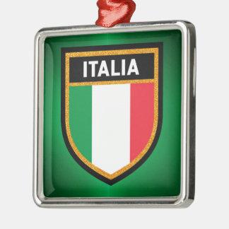 Italia Flag Metal Ornament