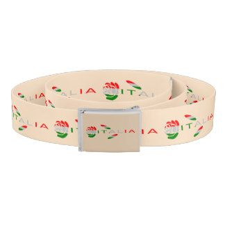 Italia Flag Rose Belt