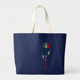 Italia Flag Rose Large Tote Bag