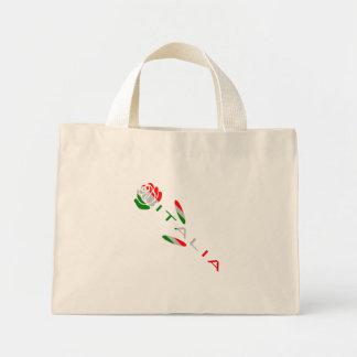 Italia Flag Rose Mini Tote Bag