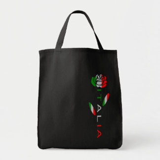 Italia Flag Rose Tote Bag